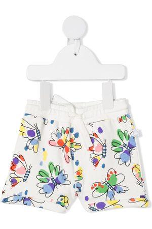 Stella McCartney Shorts - Butterfly-print track shorts