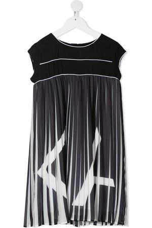 Karl Lagerfeld Pleated logo T-shirt dress