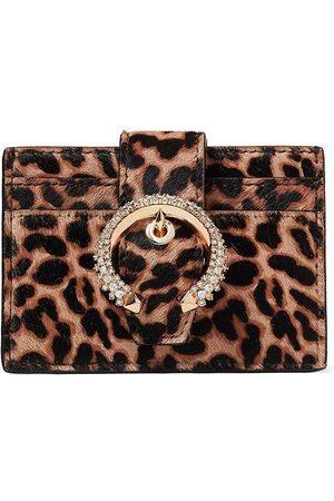 Jimmy Choo Women Purses - Umika leopard crystal-embellished cardholder