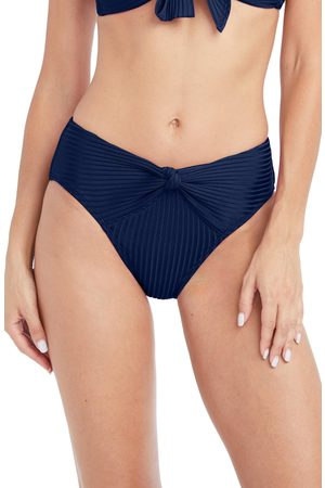 Robin Piccone Women's Neelah High Waist Knot Front Bikini Bottoms