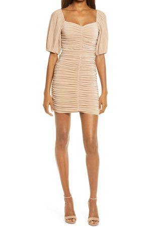 Lulus Women's Ruche Hour Ruched Body-Con Minidress