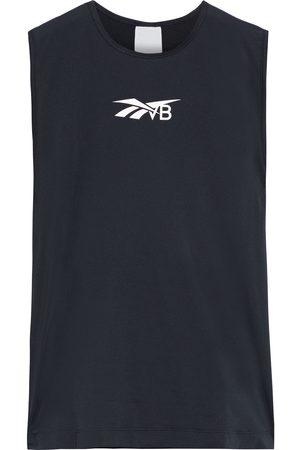 Reebok Women T-shirts - Woman Mesh-paneled Printed Stretch Tank Size 32