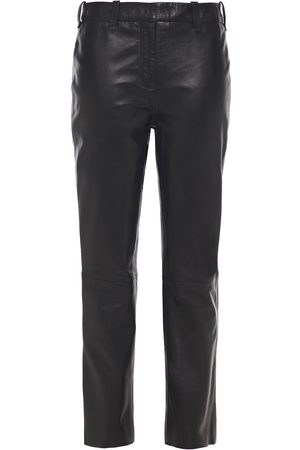 Muubaa Women Leather Pants - Woman Leather Slim-leg Pants Size 10
