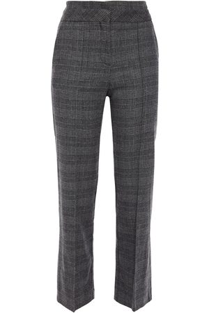 Maje Woman Prince Of Wales Checked Woven Straight-leg Pants Dark Size 38