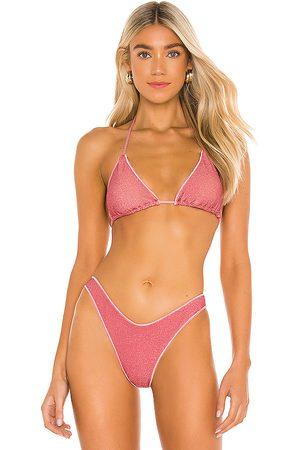 Luli Fama Stardust Triangle Bikini Top in .