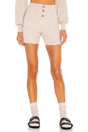 Song of Style Amanda Knit Short in Taupe.