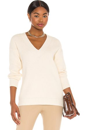 Song of Style Raine V Neck Sweater in Ivory.