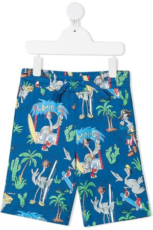 Stella McCartney Boys Shorts - Flamingo Land-print shorts