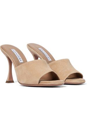 Aquazzura Women Sandals - Violette 95 suede sandals