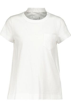 SACAI Pleated cotton top