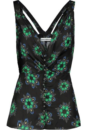 Paco rabanne V-neck floral maxi dress