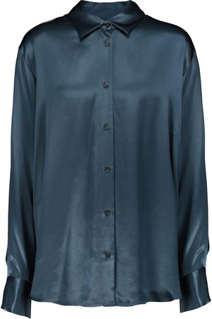 ASCENO Milan oversized bamboo satin shirt