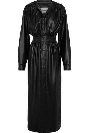 Nanushka Jayce faux-leather midi dress