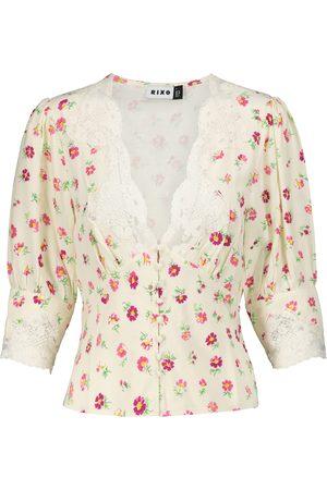 RIXO London Amanda lace-trimmed floral blouse