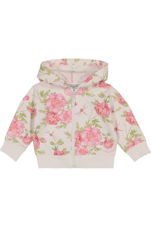 MONNALISA Baby floral stretch-cotton hoodie