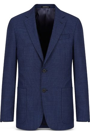 Armani Emporio Textured Travel Suit Jacket