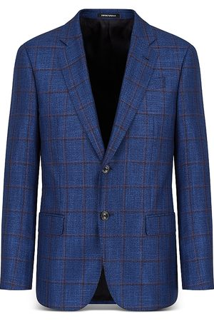 Armani Emporio Windowpane Suit Jacket
