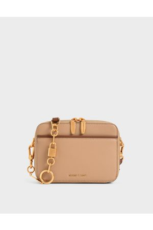 CHARLES & KEITH Double Zip Crossbody Bag