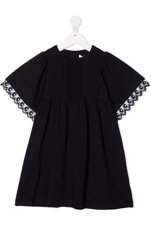 Chloé Girls Dresses - Embroidered trim front placket dress