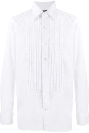 Tom Ford Men Shirts - Pleat detail cotton shirt