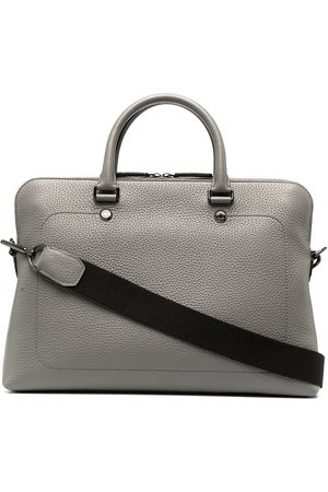 MULBERRY Slim City grained leather briefcase - Grey