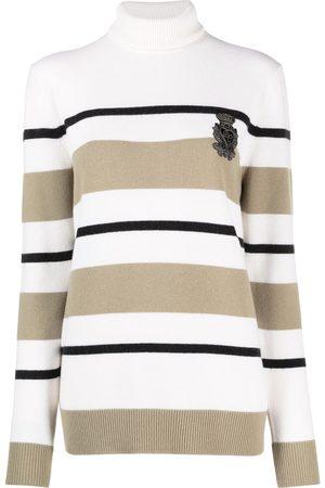 Dolce & Gabbana Women Turtlenecks - Striped turtleneck jumper - Neutrals