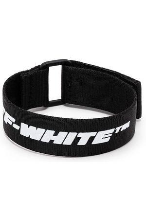 OFF-WHITE Logo-print leather bracelet