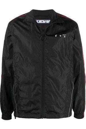 OFF-WHITE Logo-print zip-up track jacket