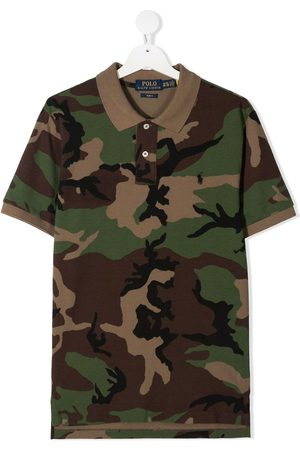 Ralph Lauren Boys Polo Shirts - Camouflage-print short-sleeve polo-shirt