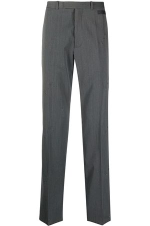 OFF-WHITE Men Formal Pants - All-over logo tailored trousers - Grey