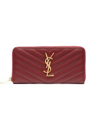 Saint Laurent Women Wallets - Monogram zip-around wallet