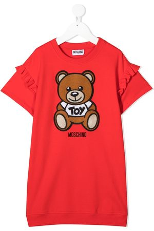 Moschino Teddy bear-print sweater dress
