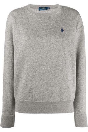 Polo Ralph Lauren Women Sweatshirts - Logo embroidered sweatshirt - Grey