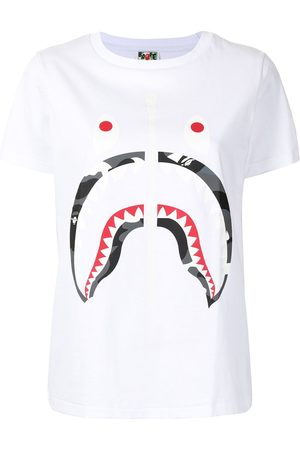 A Bathing Ape Zip-print Shark T-shirt