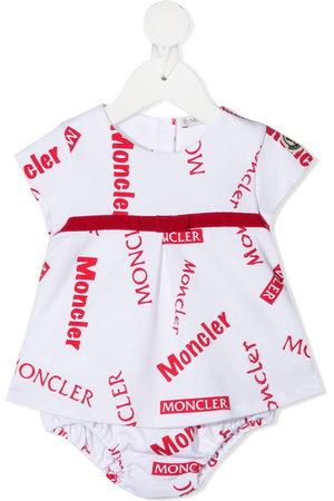 Moncler All-over logo print bodysuit
