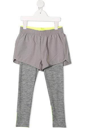 Stella McCartney Girls Leggings - Layered active leggings - Grey