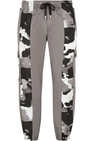Dolce & Gabbana Camouflage-panelled cargo trousers - Grey