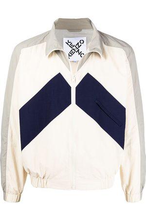 Kenzo Men Jackets - Panelled windbreaker jacket - Neutrals