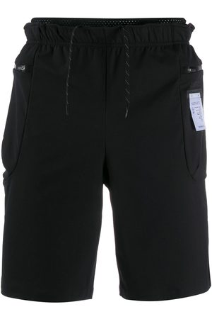 SATISFY Logo patch track shorts