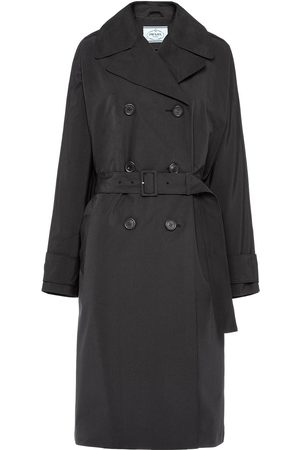 Prada Technical poplin double-breasted raincoat