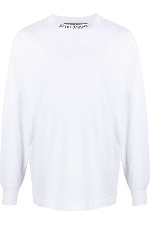 Palm Angels Men Long Sleeve - Logo-print long-sleeve T-shirt