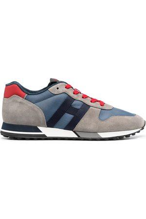 Hogan Men Sneakers - H383 panelled low-top sneakers - Grey