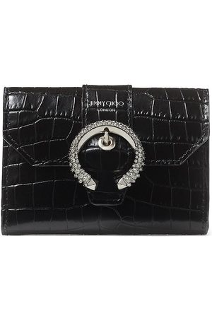 Jimmy Choo Encrusted buckle patterned wallet
