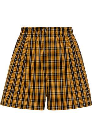 Miu Miu High-rise checked shorts