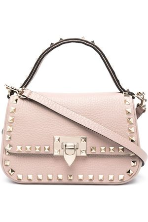 VALENTINO GARAVANI Rockstud leather shoulder bag - Neutrals