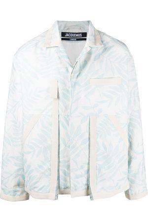 Jacquemus Le blouson leaf pattern jacket - Neutrals
