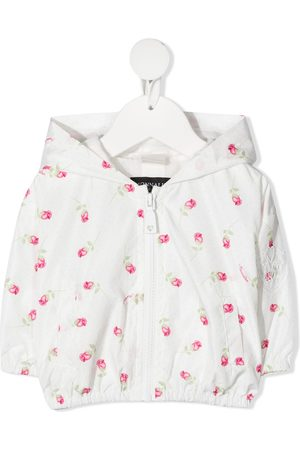 MONNALISA Floral print hooded jacket