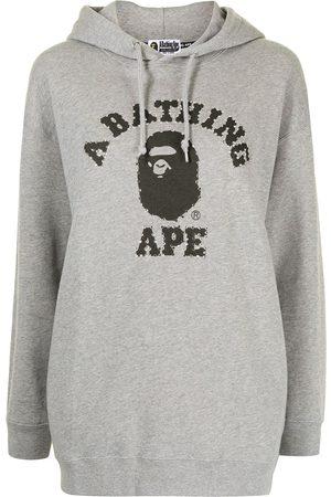 A Bathing Ape Logo-print hoodie - Grey