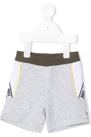 HUGO BOSS Shorts - Logo stripe shorts - Grey