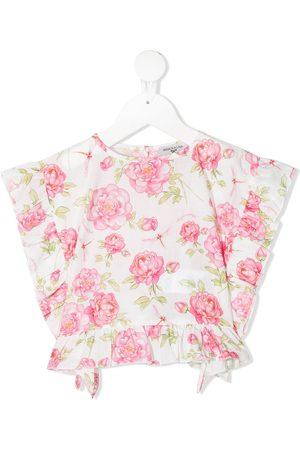 MONNALISA Floral-print ruffle-trim blouse